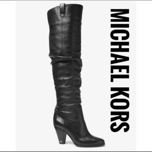 MICHAEL KORS Divia Nappa Leather Boot✨Brand New!